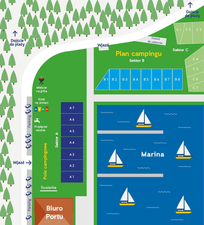 marina camp mapa
